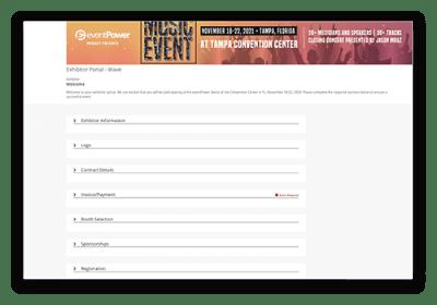 Exhibitors & Sponsors - Exhibitor Portal