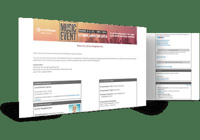 Speaker Management - Speaker Portal